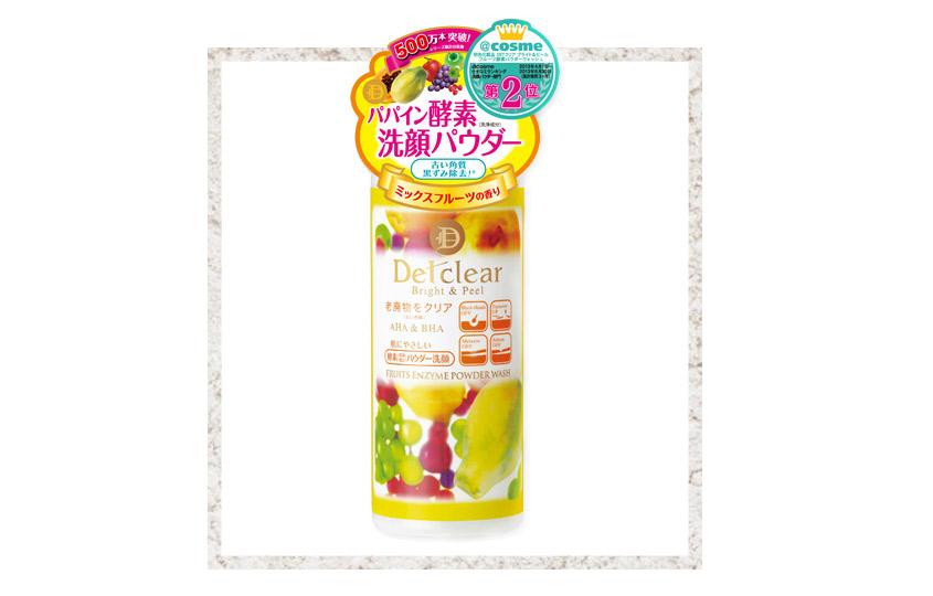 Detclear AHA &BHA Fruits Enzyme Powder Wash, Meishoku
