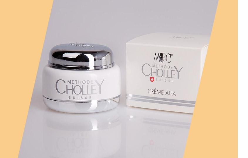Крем АНА Cholley наоснове фруктовых кислот собновляющим, увлажняющим, улучшающим цвет лица действием.