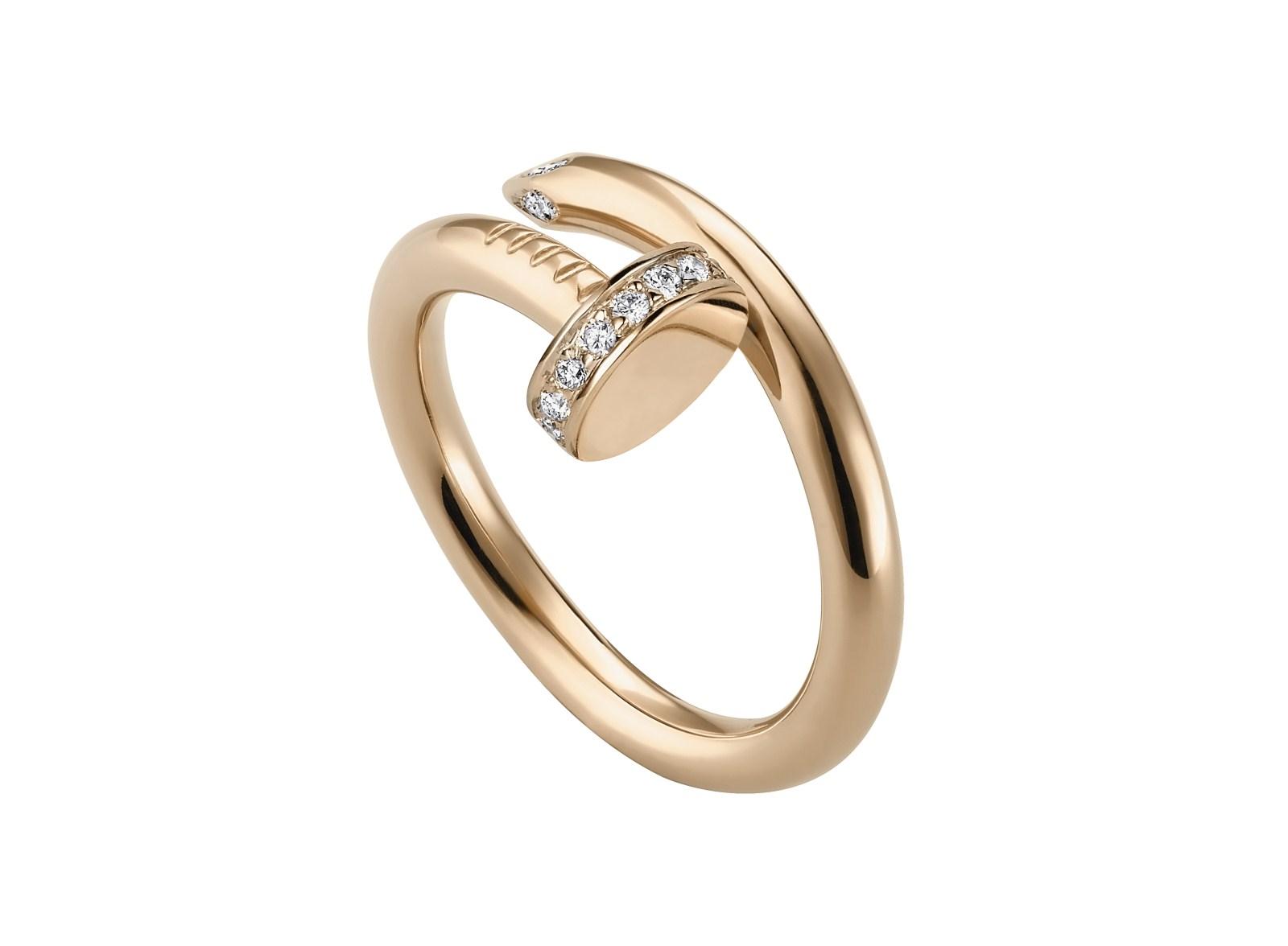 Кольцо из розового золота с бриллиантами Juste un Clou