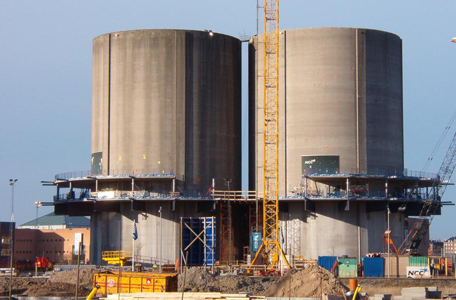 Силосные башни до строительства Gemini Residences, Копенгаген, Дания