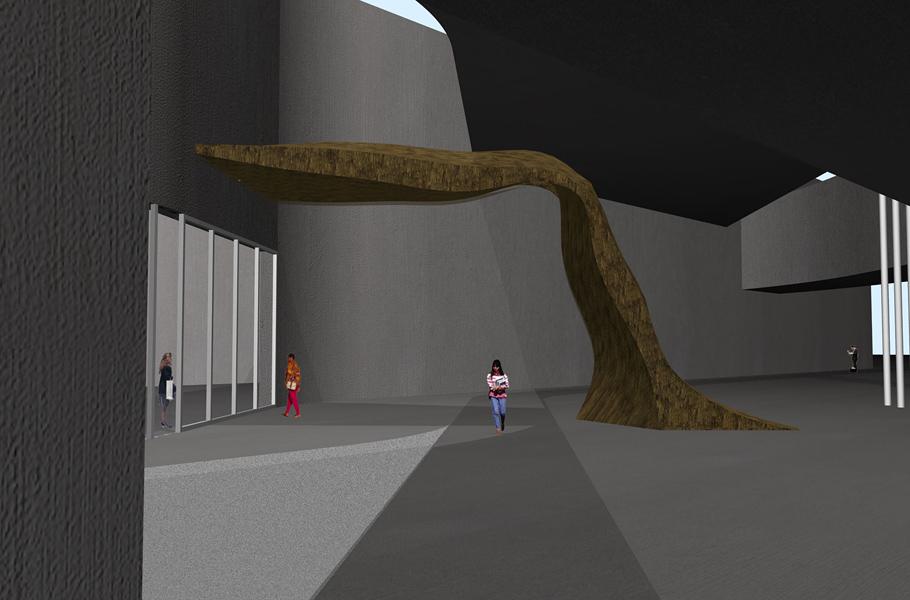 Render Maloca— инсталляция бразильских дизайнеров Фернандо иУмберто Кампана издерева исинтетической рафии