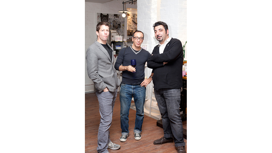 Matthew Malin, Andrew Goetz and Aik Sargsyan, the ideologue of Cosmotheca project, a store bringing the very best and most unusual organic brands under the same roof.