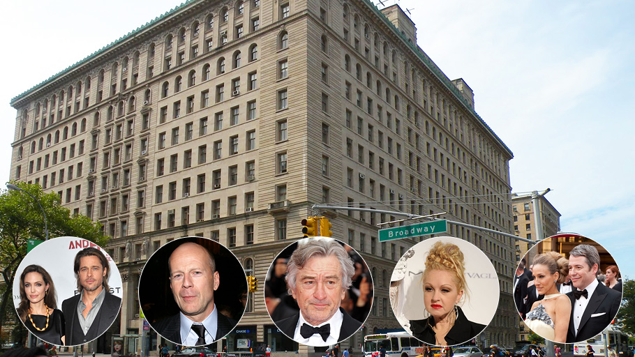 В«Доходном доме» Apthorp наВест Энд авеню, вкотором власти Нью-Йорка недавно нашли более 20нарушений норм безопасности, знаменитостей хоть отбавляй.