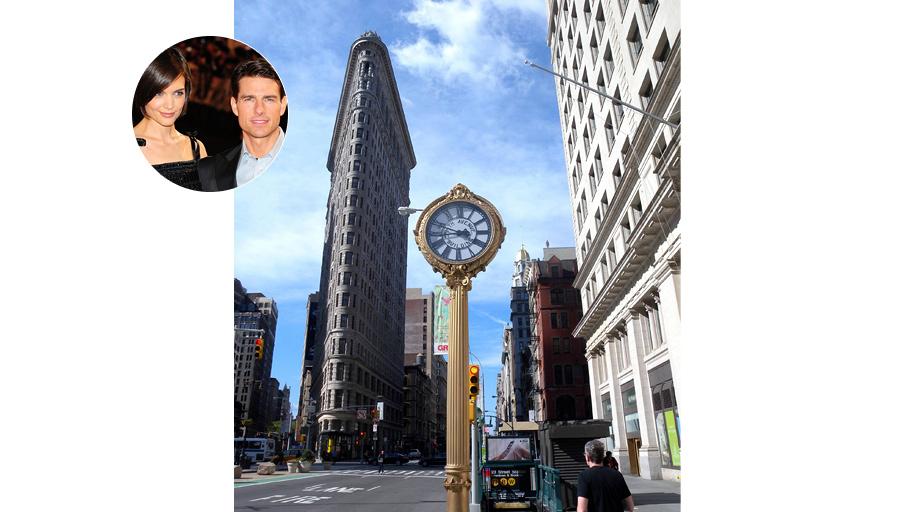 Пятая Авеню отмечена звездным присутствием Тома Круза и Кэти Холмс.