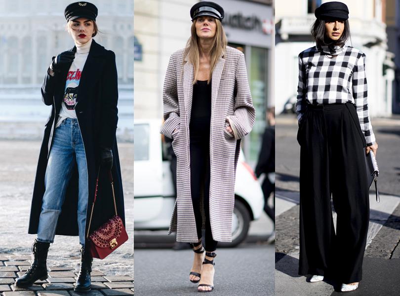 Береты, кепи, фуражки— самые актуальные головные уборы street style Недели моды