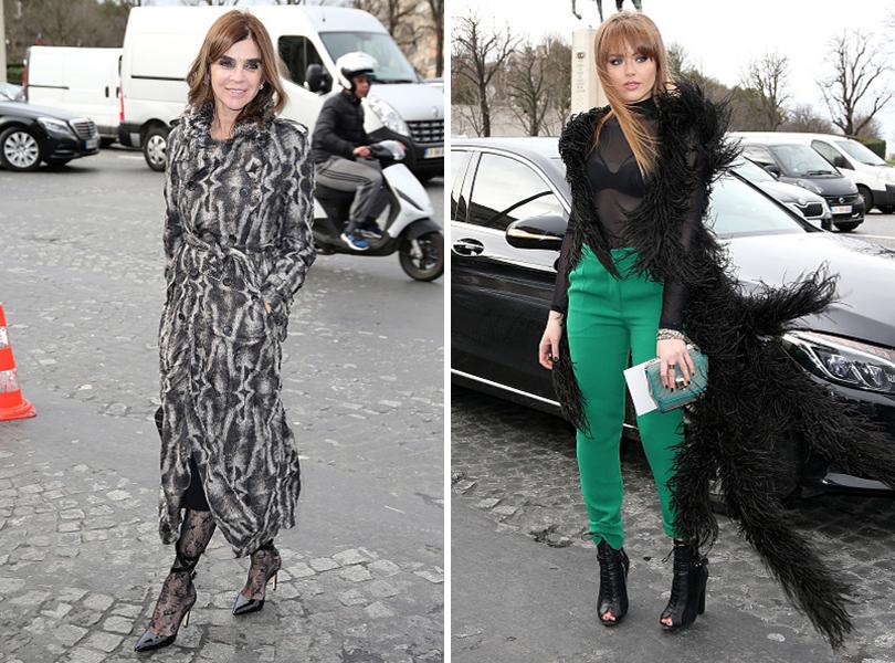 Показ Elie Saab на Неделе высокой моды в Париже: Карин Ройтфельд, Кристина Базан
