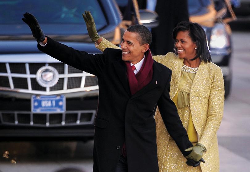 Brooks Borthers — любимый бренд американских президентов и великих литераторов: Барак и Мишель Обама на церемонии инаугурации