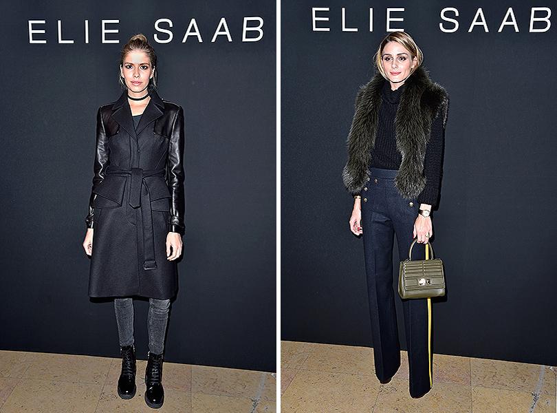 Показ Elie Saab на Неделе высокой моды в Париже: Елена Перминова, Оливия Палермо