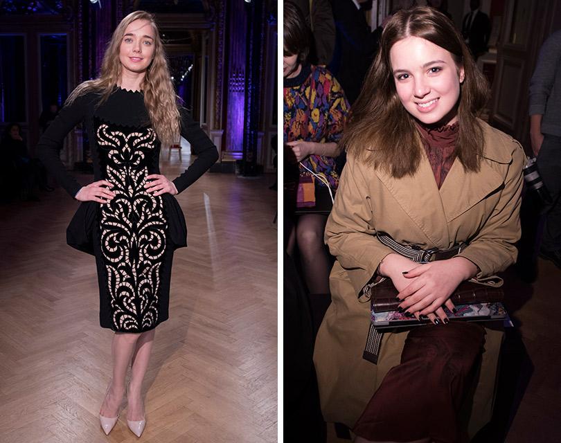 Гости показа Yanina Couture врамках Недели высокой моды вПариже. Алена Чехова. Саша Маниович