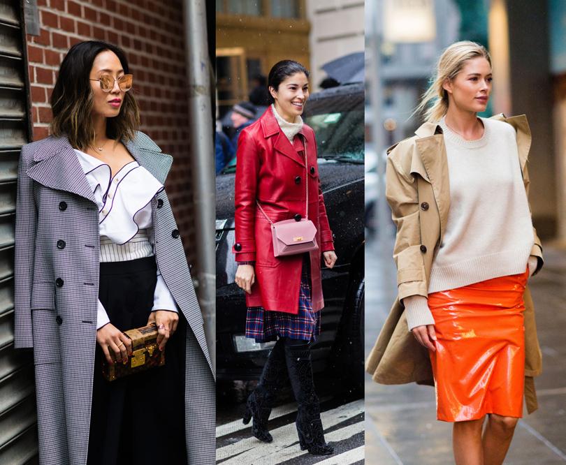 Street Style: уличный стиль наНеделе моды вНью-Йорке. Эйми Сонг, Кэролайн Исса, Даутцен Крез