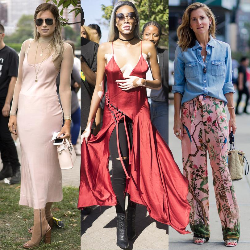 Модный блогер Даниэль Берштейн, модель Шантал Джонс, директор модного отдела Teen Vogue Марина Ларуд