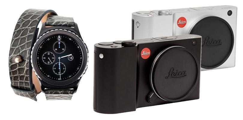 Часы The Samsung Gear S2 smartwatch;  камера Leica T701