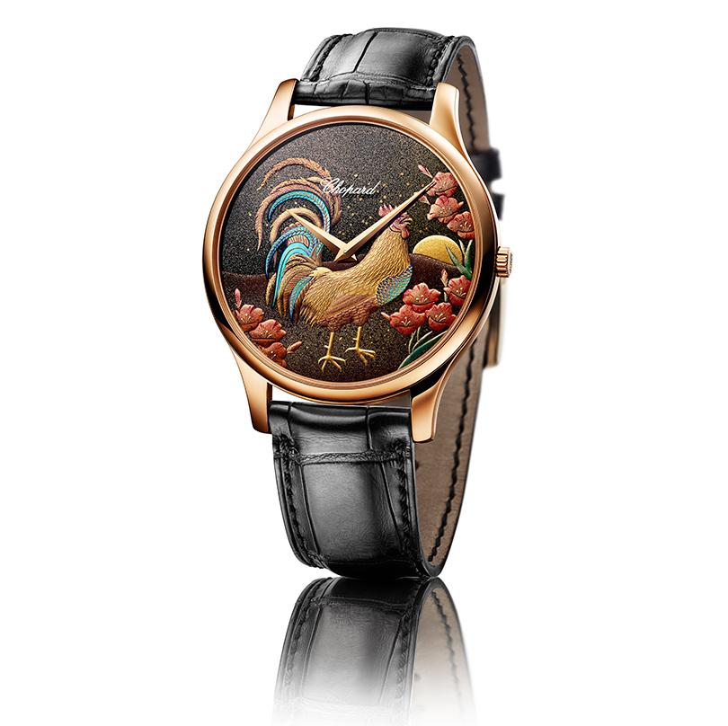 Одним из первых часы, посвященные году Петуха, представил ювелирный Дом Chopard: модель L.U.C XP Urushi Year of the Rooster