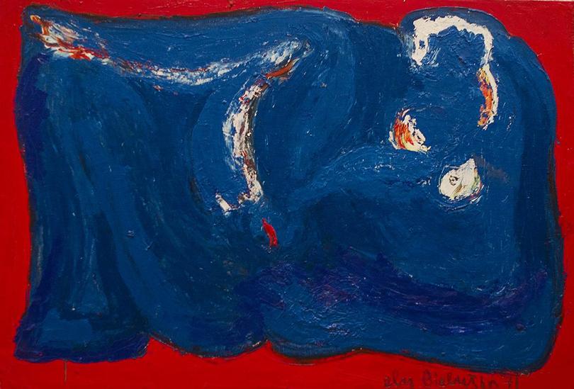 """«Студия """"Новая реальность"""" (1958-1991). Трансформация сознания». Элий Белютин. «Обнаженная», 1969 г."""