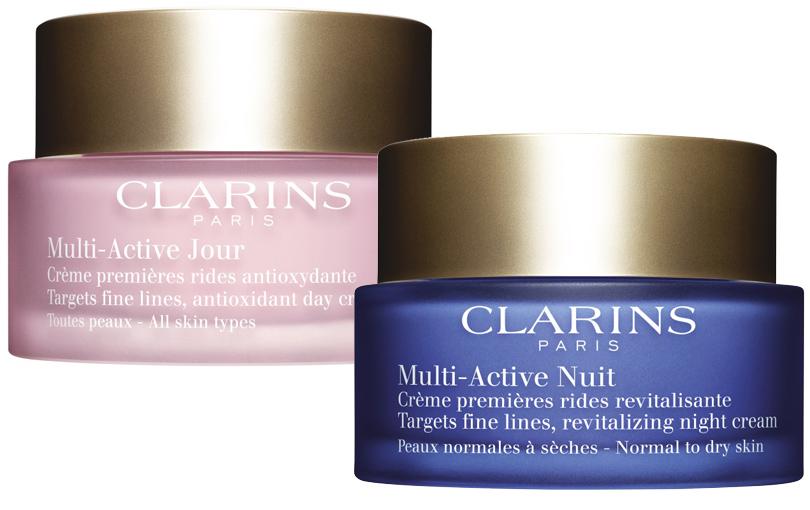 Моно-косметичка Clarins. Личный опыт. Дневной и ночной крема Multi-Active