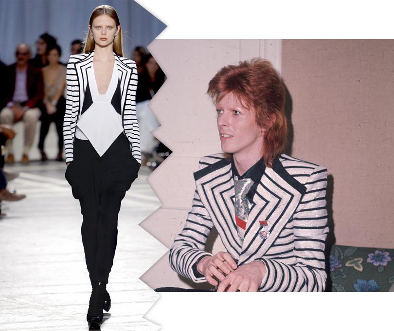 Показ Givenchy, весна-лето 2010 и Дэвид Боуи в 1973