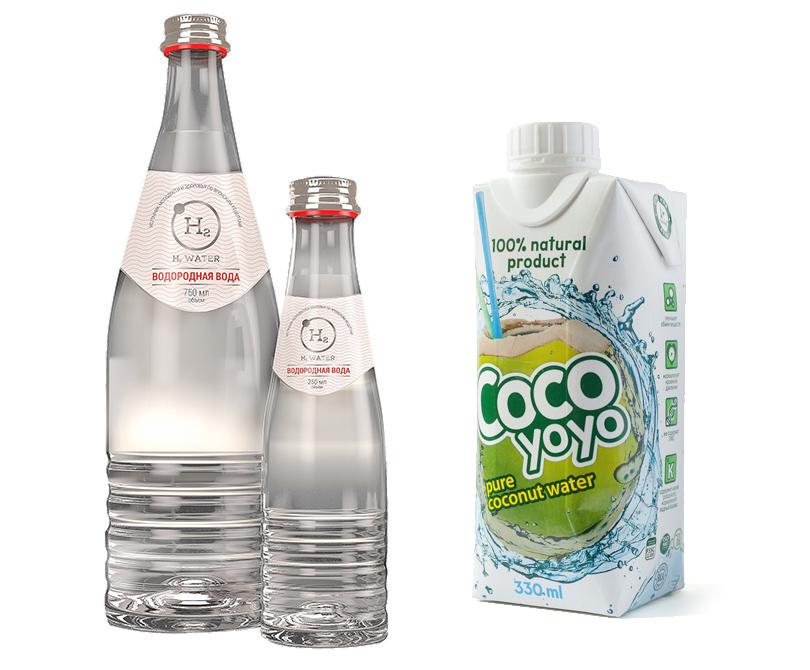 Водородная вода H2Water, натуральная кокосовая вода CocoYoyo