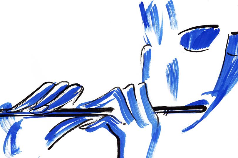 Почему флейта звучит синим ©Сергей Кумыш
