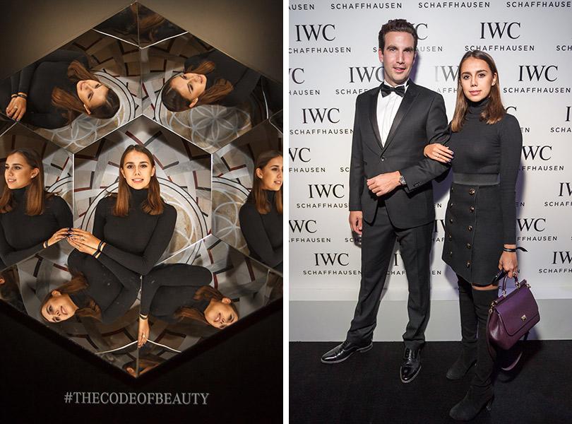 Презентация новой женской коллекции часов IWC Schaffhausen DaVinci врамках Mercedes-Benz Fashion Week Russia. Томас Перини (IWC) иМаргарита Мамун