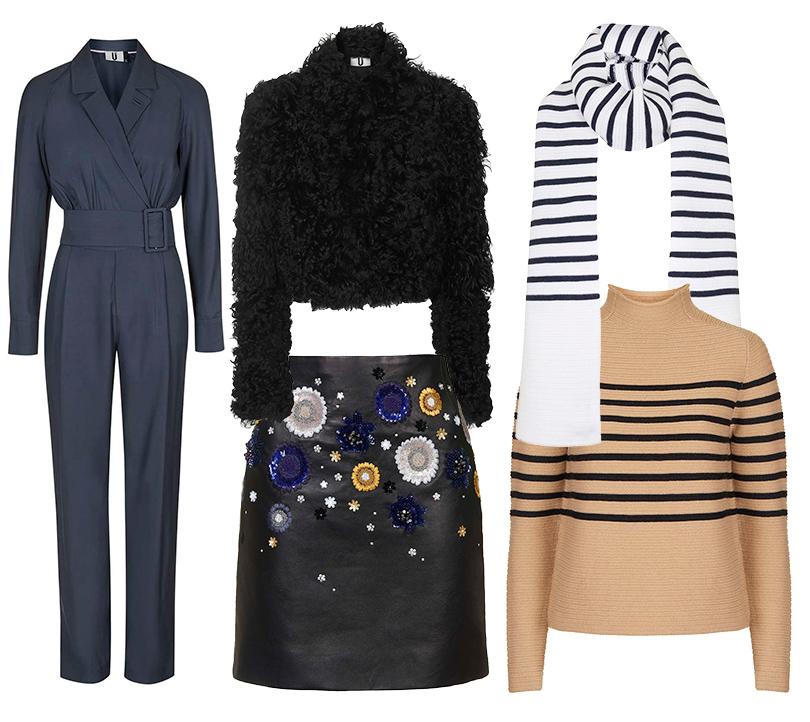 Luxe for less: От «массы» к «классу». Массовые марки в премиум-сегменте. Меховая куртка (€900), юбка из натуральной кожи (€800), комбинезон (€225), свитер из шерсти и кашемира (€220), шарф (€125). Все Topshop Unique.