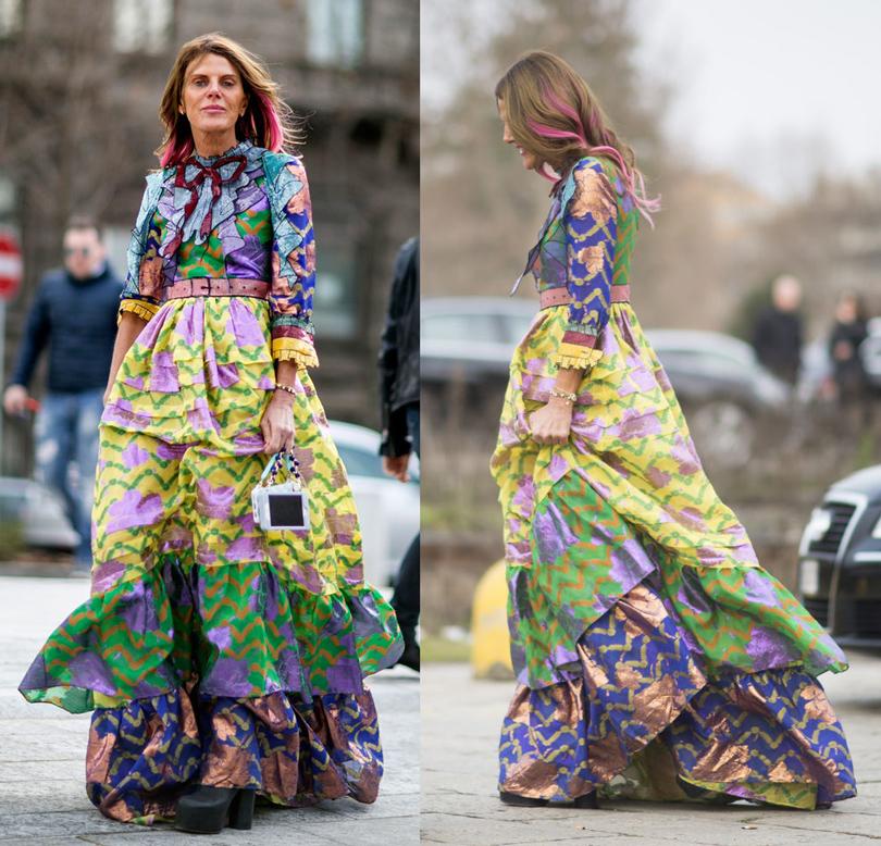 Лучшие образы street style на Неделе моды в Милане: Анна Делло Руссо