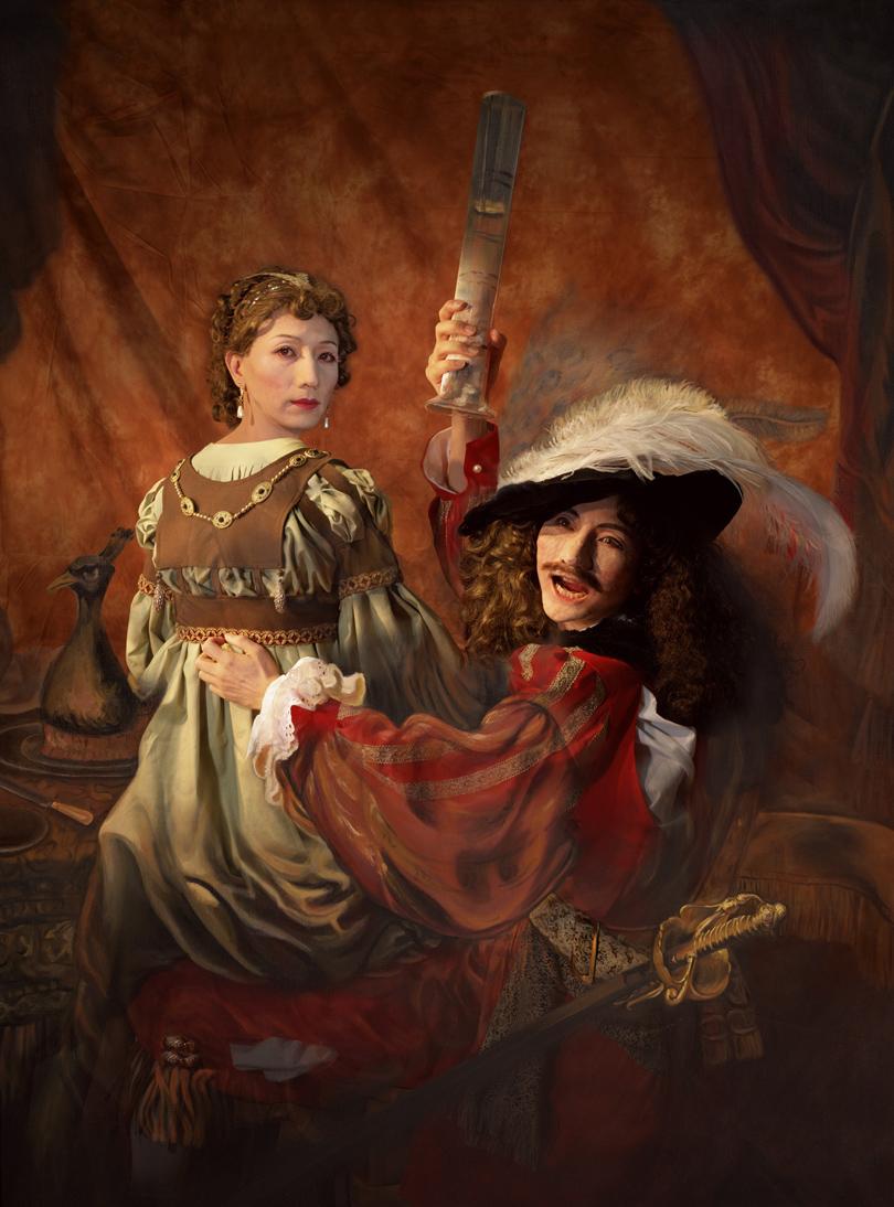 Ясумаса Моримура. «Автопортрет вобразе блудного сына, 1636», 1994г.