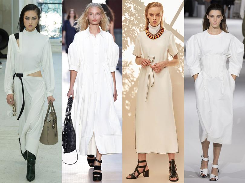 Office Style: адаптируем самые «горячие» подиумные тренды весны для корпоративного дресс-кода. «Белые» образы извесенних коллекций Sonia Rykiel, Stella McCartney, Derek Lam, Louis Vuitton