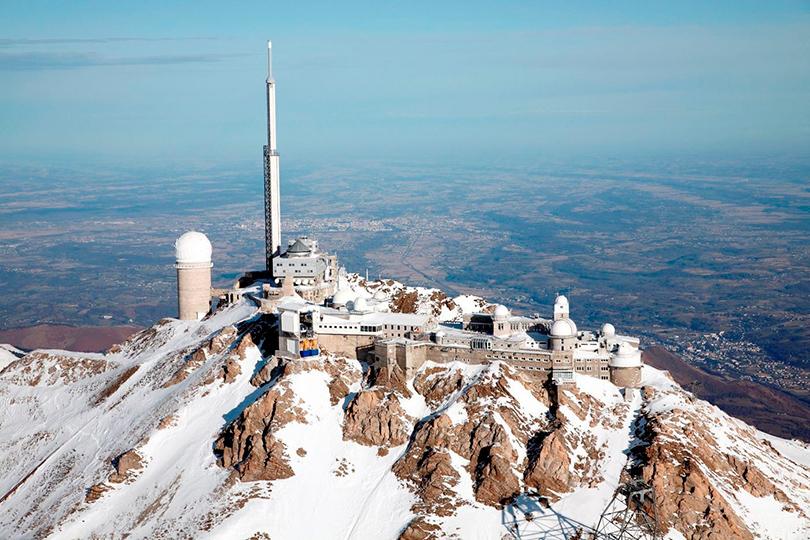 Идея для путешествия: астрономические обсерватории, вкоторые открыт доступ туристам. Обсерватория Пик-дю-Миди, Франция, высота 2877 метров