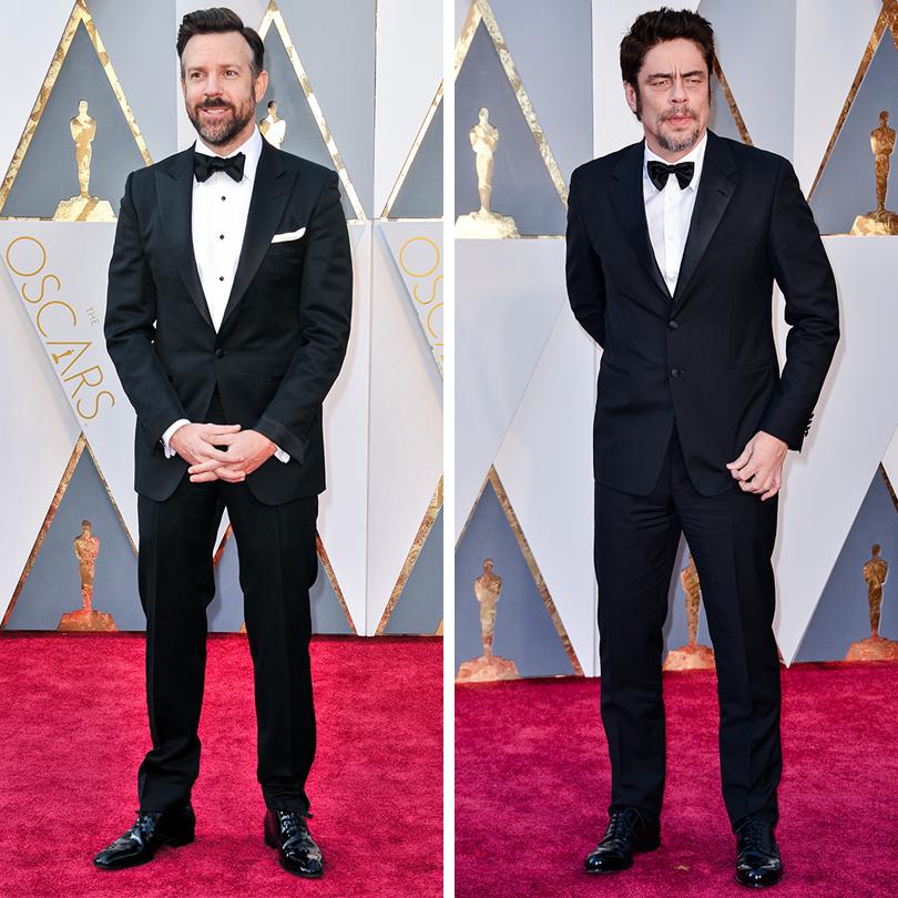 Мужские образы на церемонии награждения победителей «Оскар-2016»: Джейсон Судейкис и Бенисио Дель Торо