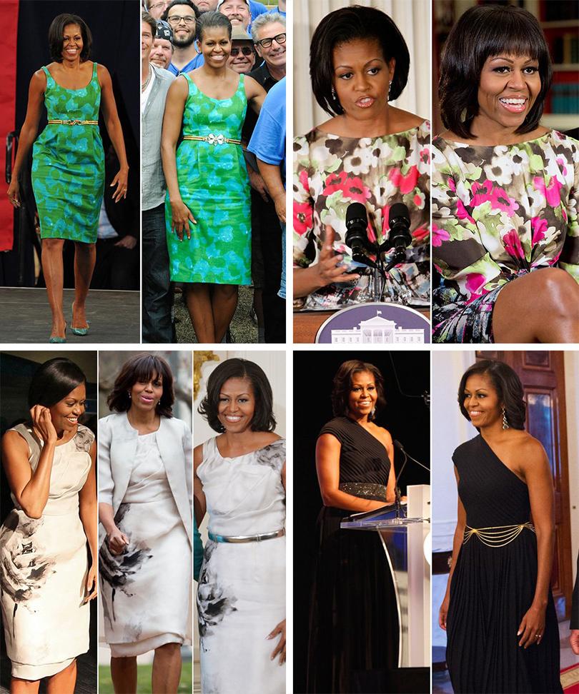 Тренд на outfit recycling: носить платья по два раза считают уместным Мишель Обама