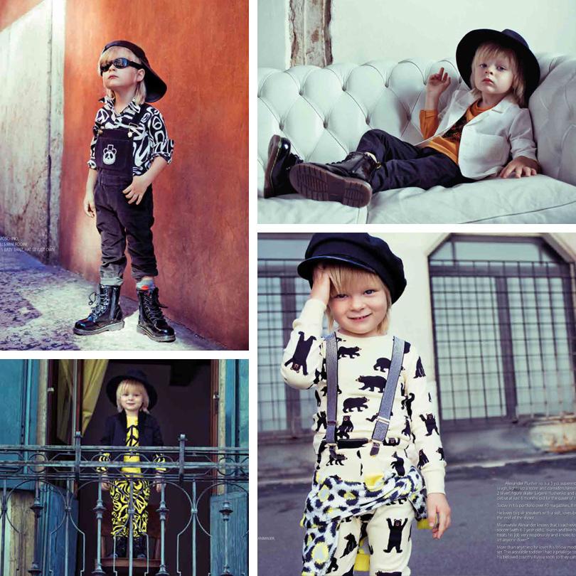 Трехлетний сын Евгения Плющенко и Яны Рудковской Саша — он же «Гном Гномыч» — стал главным героем осеннего номера американского модного журнала Magnificent.
