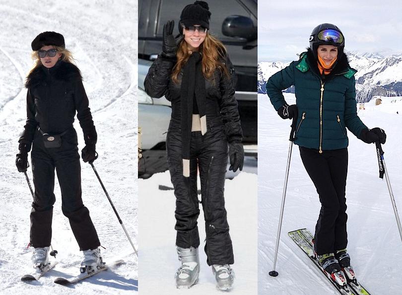 Style Notes: 8стильных образов для горнолыжного курорта налюбой вкус ибюджет. Кейт Мосс, Мэрайя Керри, Оливия Палермо