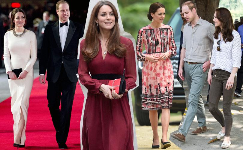 Smart Shopping: почему герцогиня Кембриджская выбирает демократичные марки? Вожерелье Zara, вплатье Whistles, вплатье Topshop, вджинсах Zara