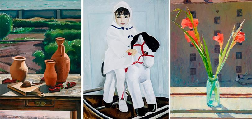 «Суровый стиль» Таира Салахова в Третьяковке: «Натюрморт с красным перцем» (1977),  «Айдан» (1967), «Гладиолусы» (1958)