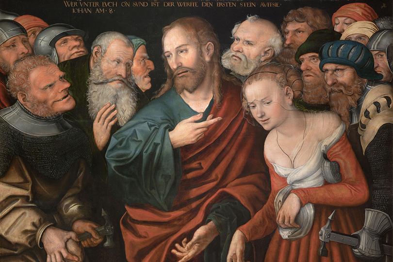 «Кранах»  Кунстпаласт, Дюссельдорф, Германия  8апреля— 30июля Лукас Кранах Старший. Христос игрешница.1532
