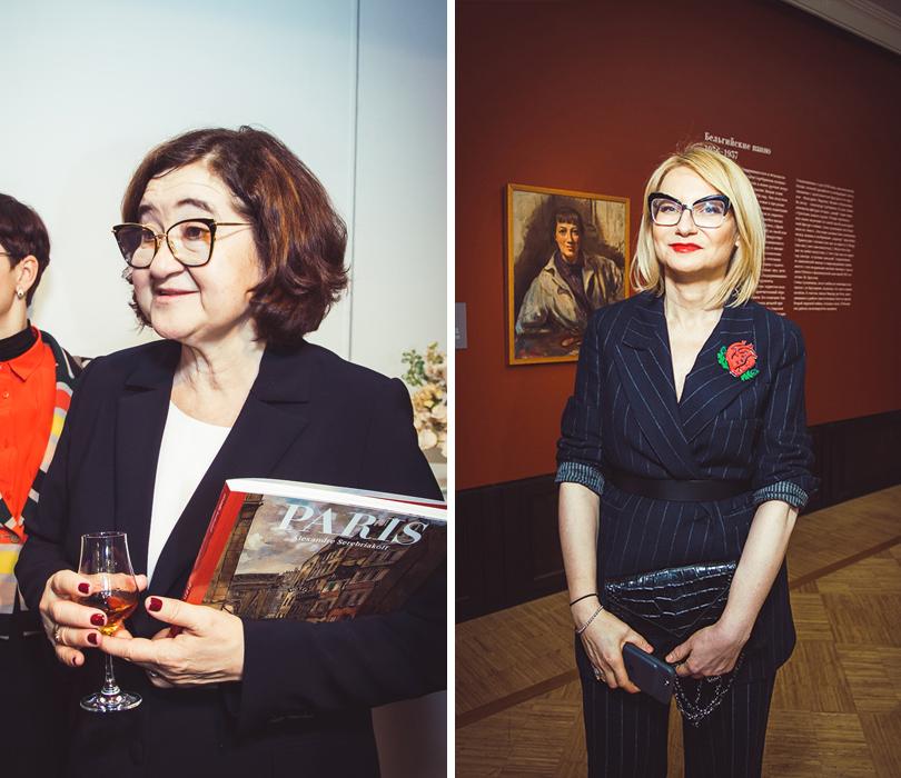 Открытие выставки Зинаиды Серебряковой вТретьяковской галерее. Зельфира Трегулова и Эвелина Хромченко