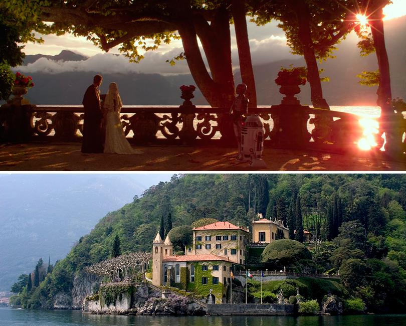 Вилла Бальбьянелло на озере Комо в  итальянском городке Ленно