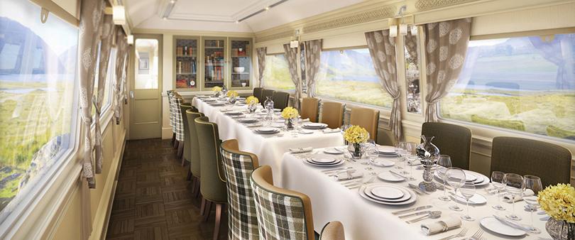Интерьеры ирландского поезда Belmond Grand Hibernian