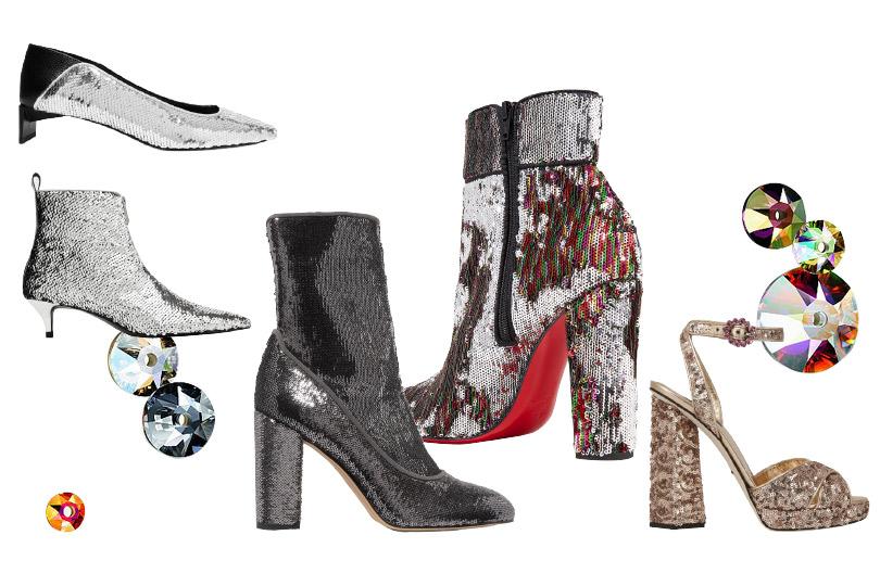 Обувь впайетках: Loewe, Zara, Sam Edelman, Christian Louboutin, Dolce &Gabbana