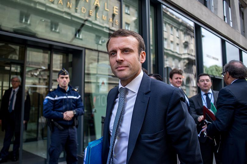 Кандидат впрезиденты Франции Эммануэль Макрон