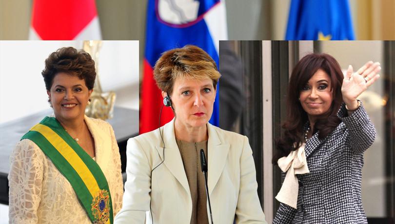 Женщины-лидеры мировых государств. Дилма Русеф, Симонетта Соммаруга, Кристина Фернандсес де Киршнер