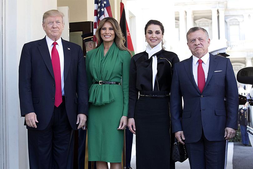 Встреча навысшем уровне: Мелания Трамп икоролева Иордании Рания посетили школу для девочек вВашингтоне
