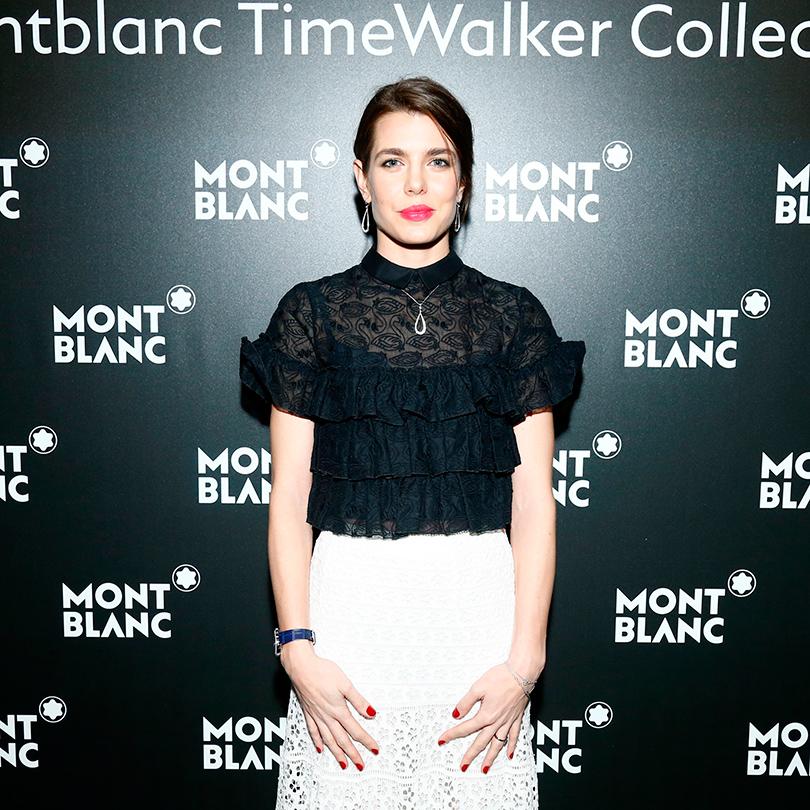 Шарлотта Казираги вчасах Montblanc Boheme ExoTourbillon Slim Jewellry