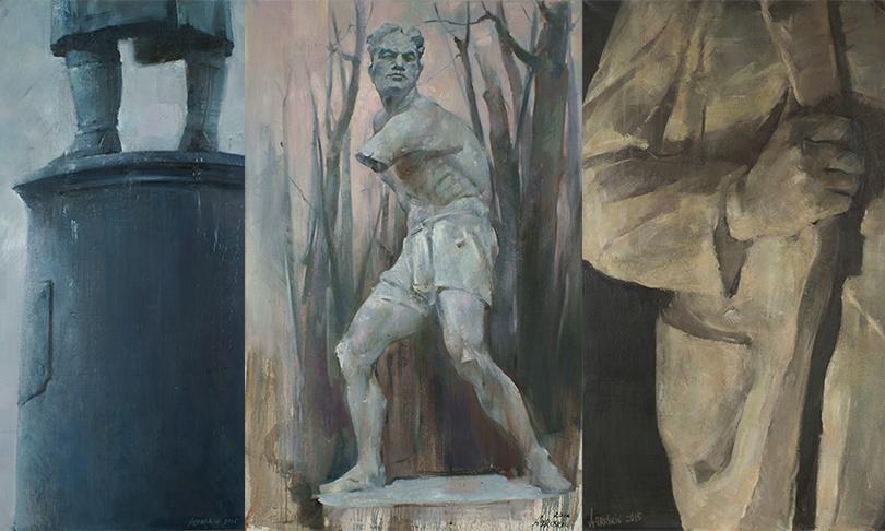 Art & More: в RuArts открыли экспозицию, посвященную советской монументальной пропаганде. Цикл работ «Стена» известного московского художника Семена Агроскина