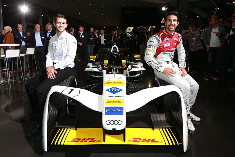 Сила тока: Audi представила свой первый гоночный автомобиль наэлектрической тяге. Даниэль Абт и Лукас диГрасси