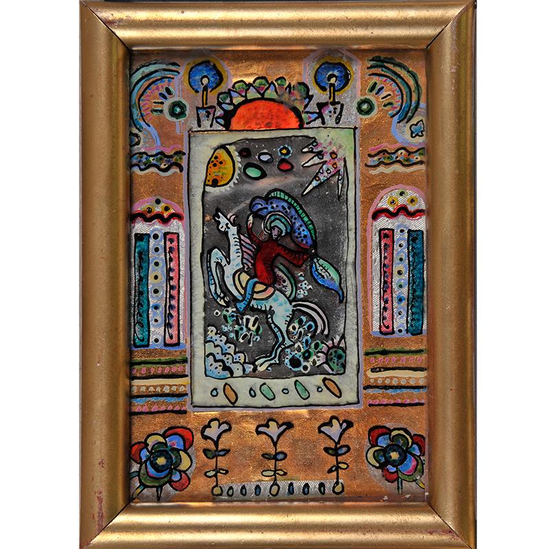 Art &More: шедевры и«пустячки» Василия Кандинского. Василий Кандинский. «Всадник». Изсобрания Национального музея искусств Азербайджана, Баку