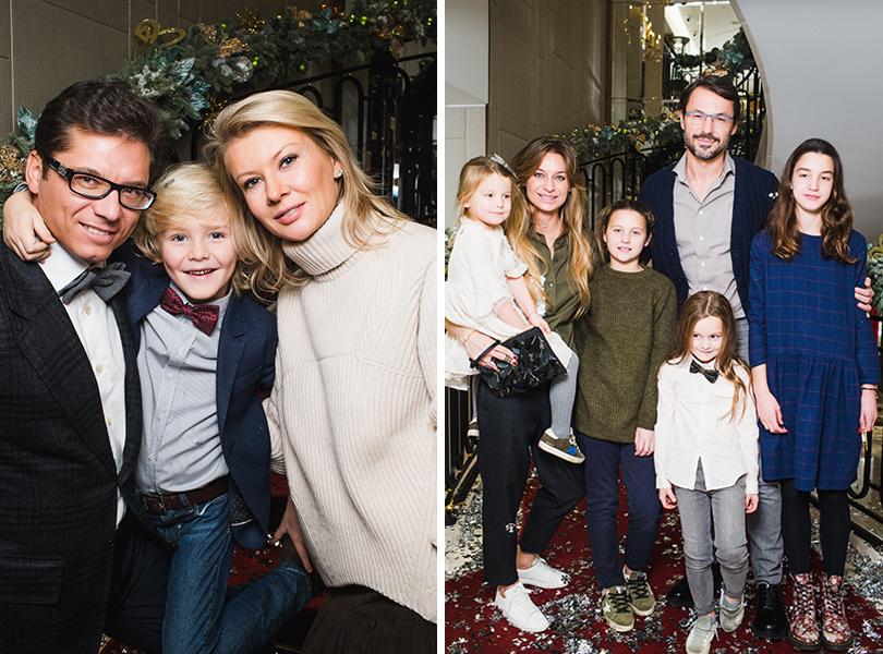 Антон и Виктория Борисевич с сыном Максимом, Анастасия и Сергей Рябцовы с детьми