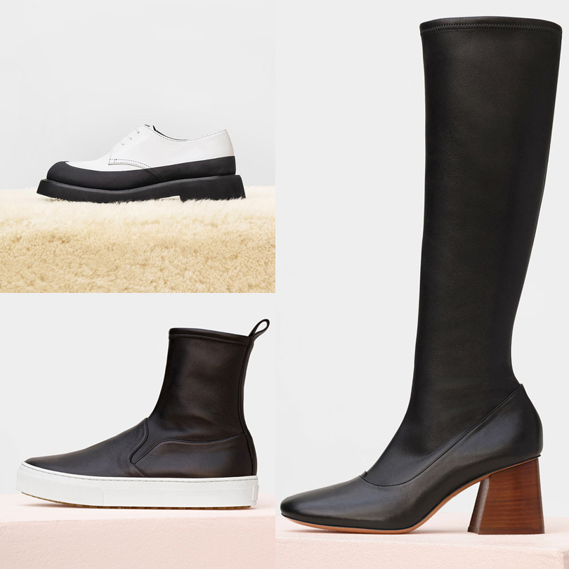 Style Notes: 5причин обратить внимание нааксессуары Céline. Ботинки наширокой подошве Céline Country, высокие слипоны Céline Skate Stretch, высокие сапоги Céline Soft Ballerina