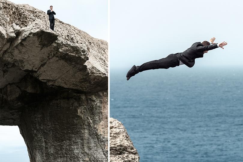 Men in Style: хайдайвер Дэвид Колтури в новой кампании HUGO
