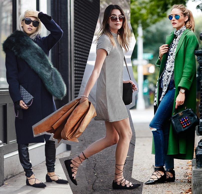 Модные блогеры Ванесса Хонг вбалетках Stuart Weitzman и Бриттани Ксавьер, Оливия Палермо
